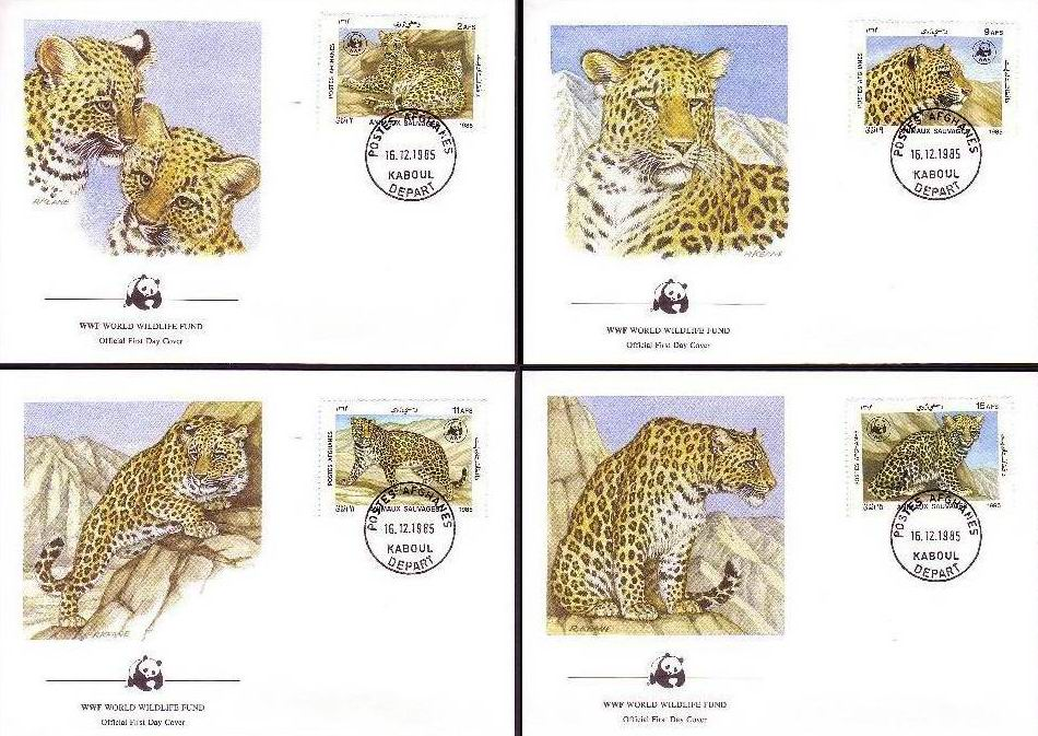 Afghanistan 1989 WWF Fdc & Stamps Snow Leopard