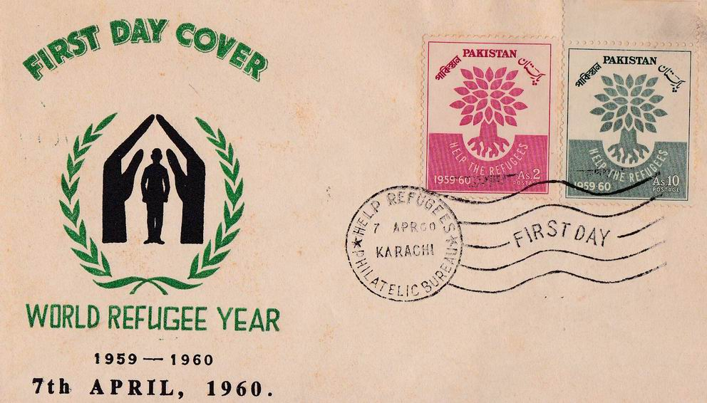 Pakistan Fdc 1960 World Refugee Year