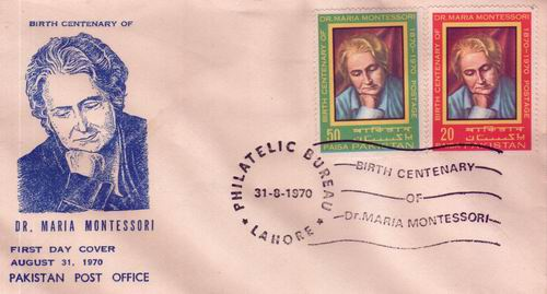 Pakistan Fdc 1970 Dr. Maria Montessori Child Education