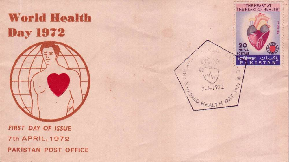 Pakistan Fdc 1972 World Health Day