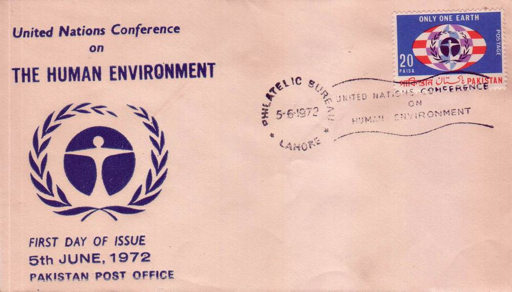 Pakistan Fdc 1972 Earth Day