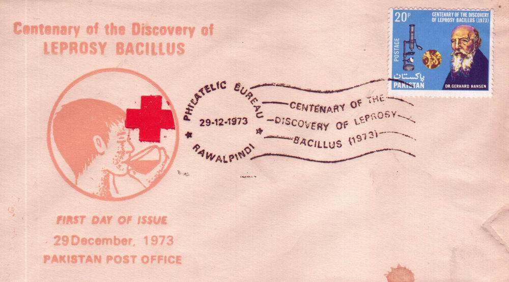Pakistan Fdc 1973 Hansen's Discovery of Leprosy
