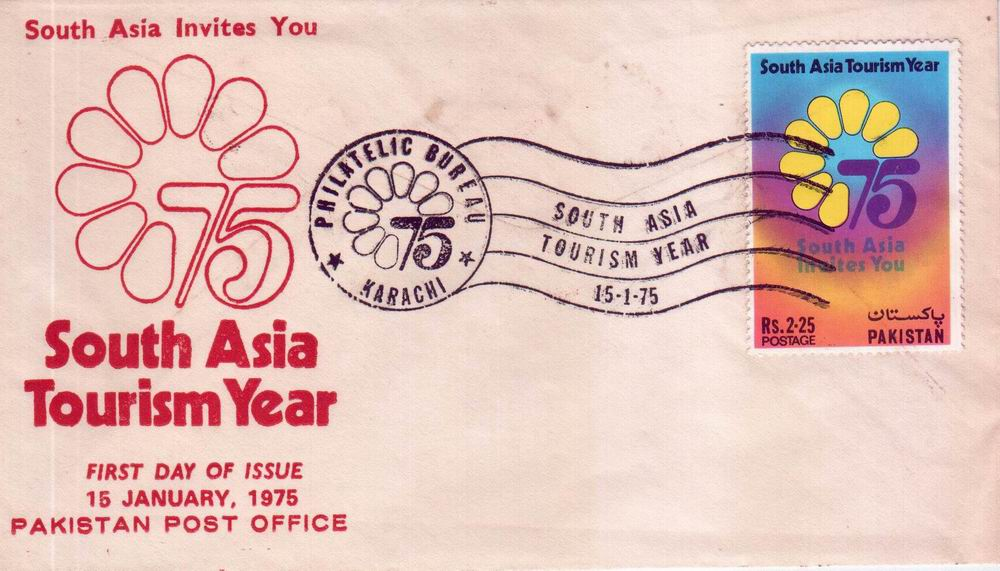 Pakistan Fdc 1975 South Asia Tourism Year