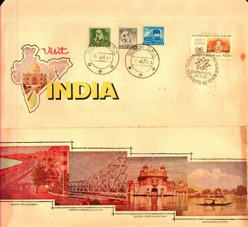 India 1967 Fdc Taj Mahal In Map Of India Delightful Cover