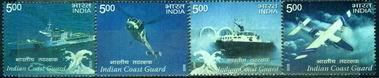 India 2008 Stamps Coast Guard Helicopter Ship Aircraft