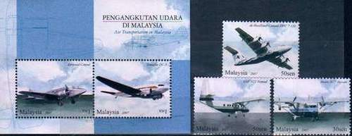 Malaysia Fdc S/heet Stamps Air Transportation Aircrafts