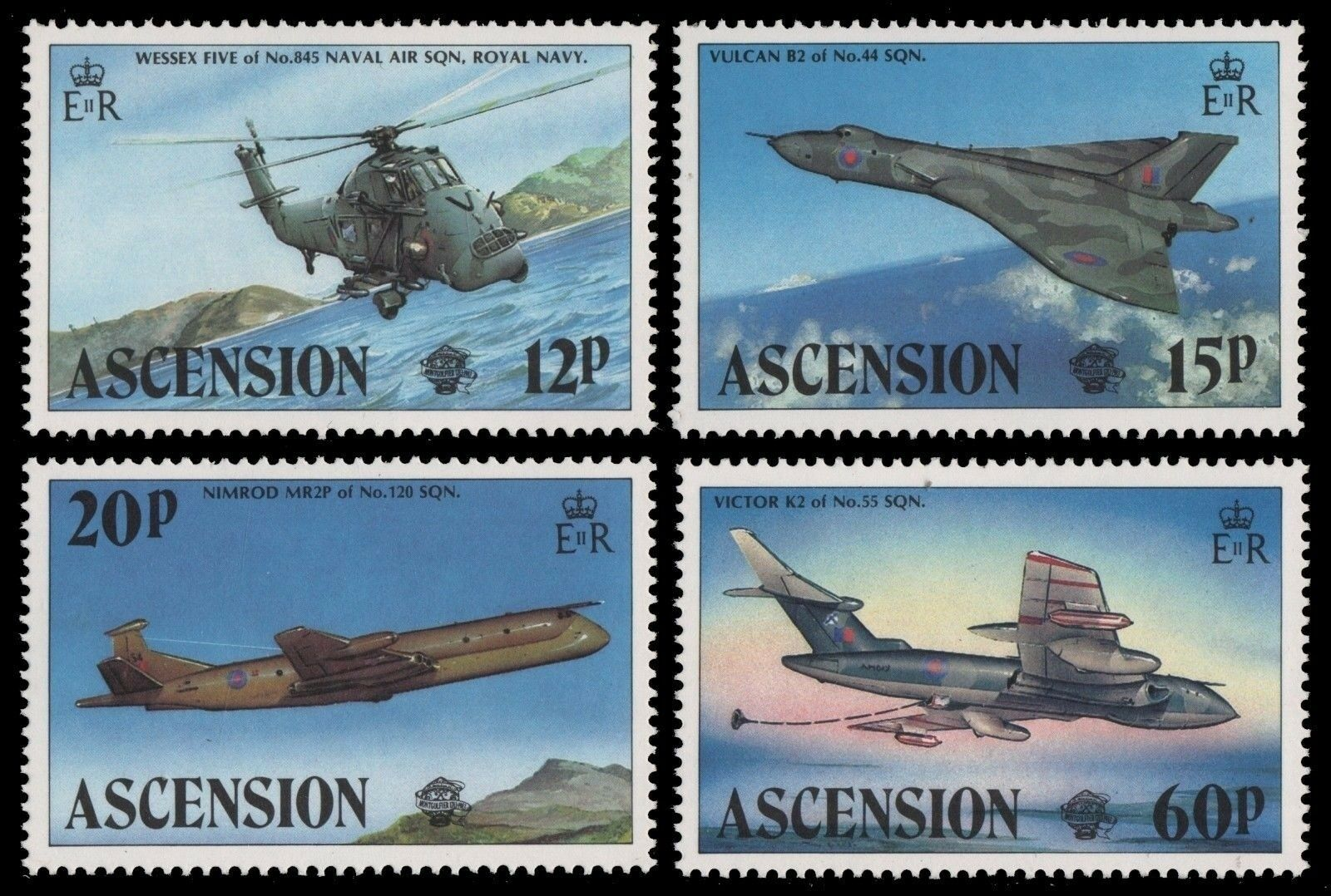 Ascension 1983 Stamps Aircrafts Planes Royal Navy