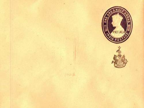 Patiala State OVPT on KGVI Cover With Emblem