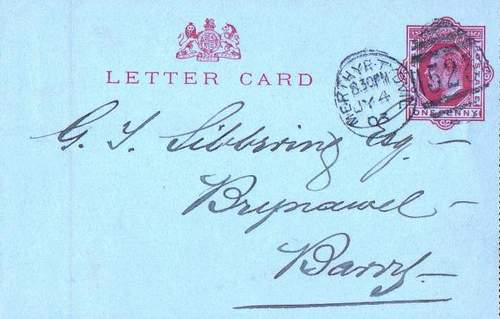 USA Letter Card 1903 Used In Perfect Condition