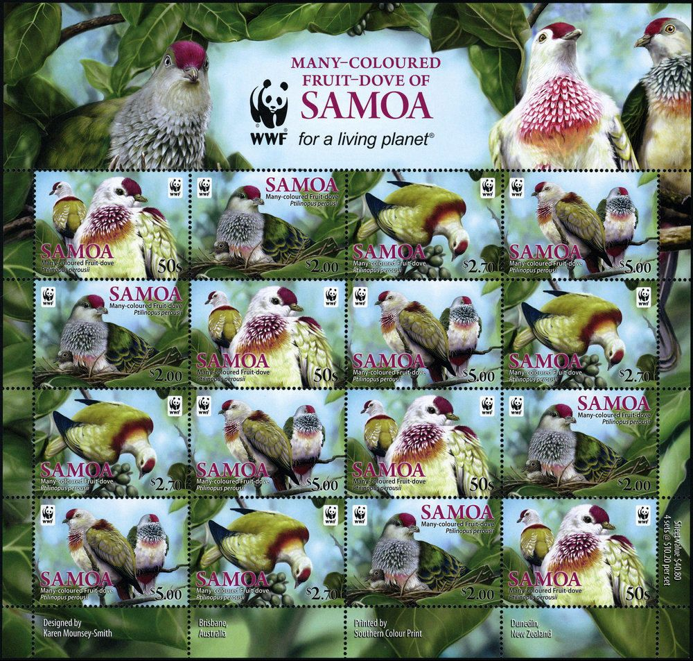 WWF Samoa 2011 Stamp Birds Fruit Dove MNH