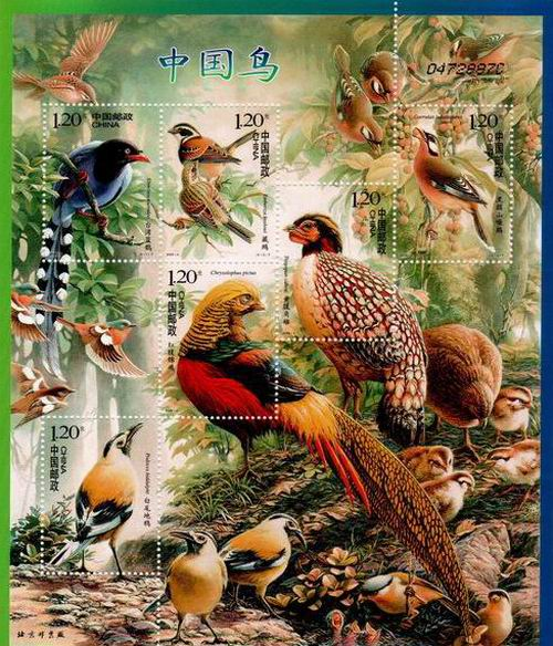 China 2008 Stamps Sheet Pheasants Birds MNH