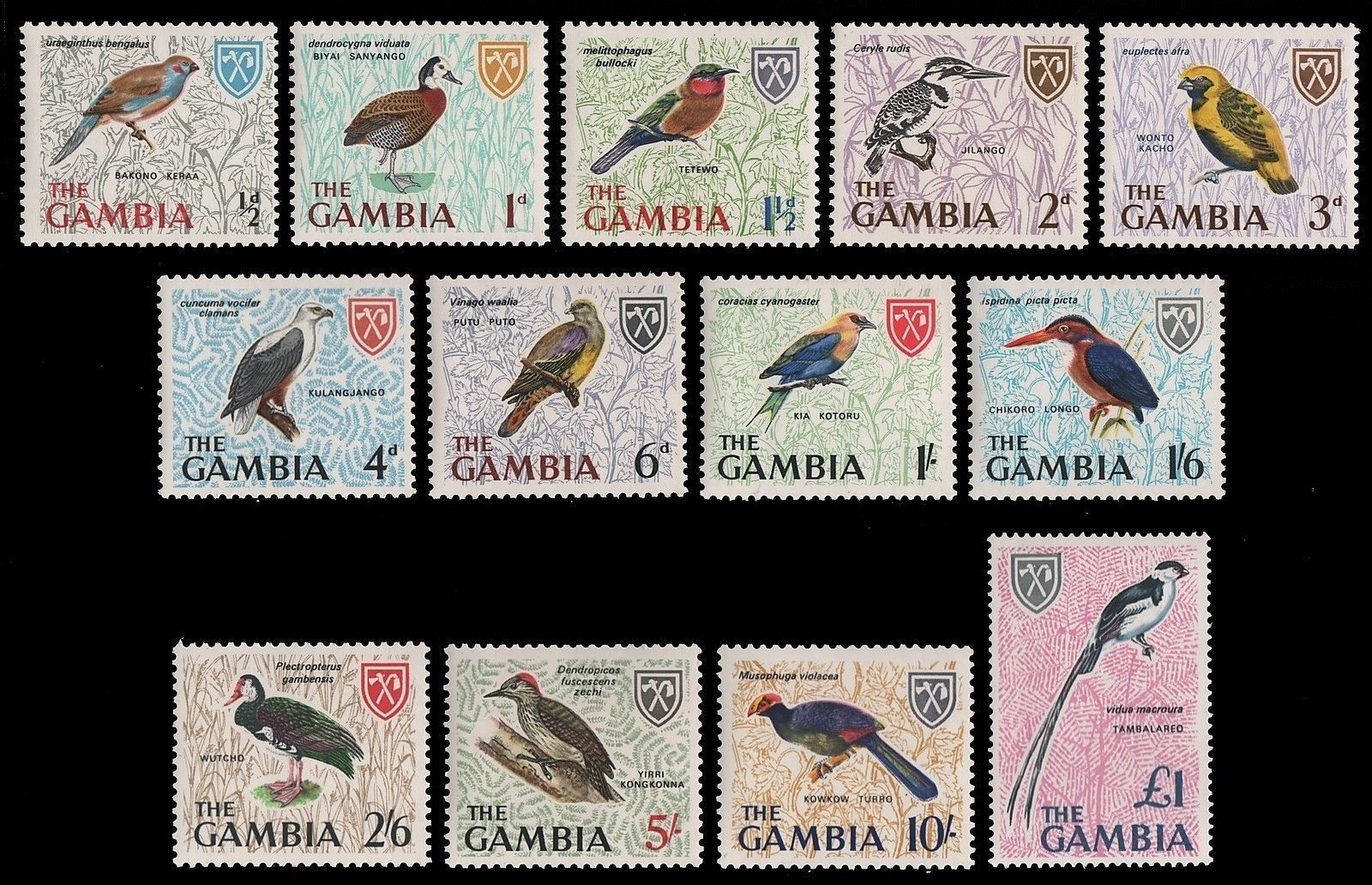 Gambia 1963 Stamps Birds