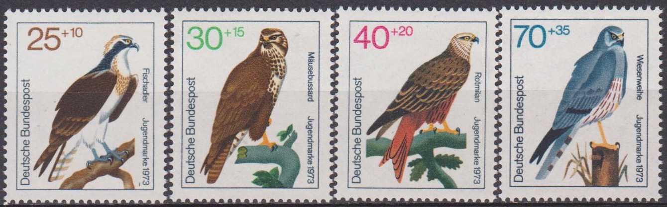 Germany 1973 Stamps Birds Of Prey MNH