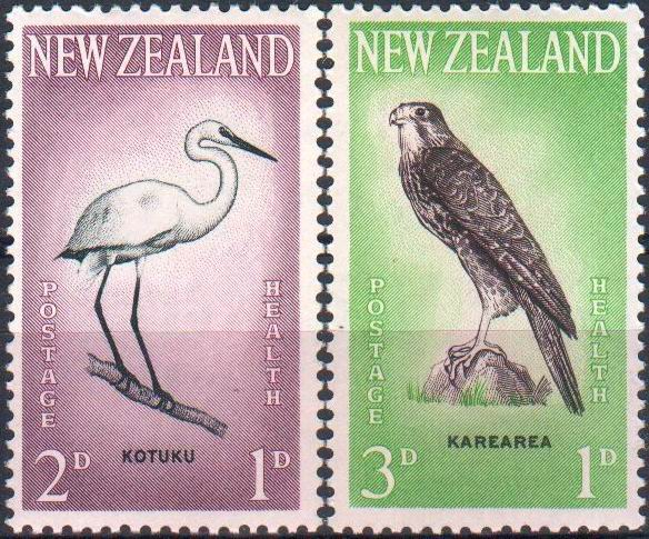 New Zealand 1961 Stamps Birds