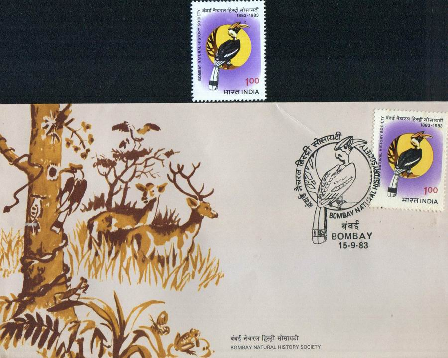 India Fdc 1983 & Stamps Bombay Natural Society