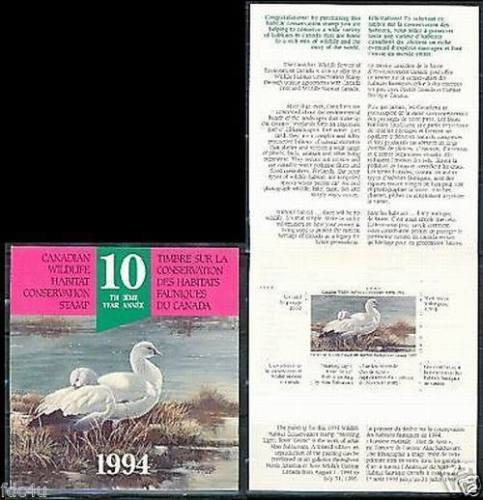 Canada 1994 Booklet Wildlife Conservation Birds Ducks MNH
