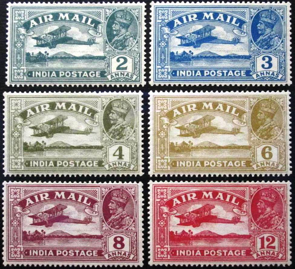 British India KGV 1915 Airmail Stamps MNH