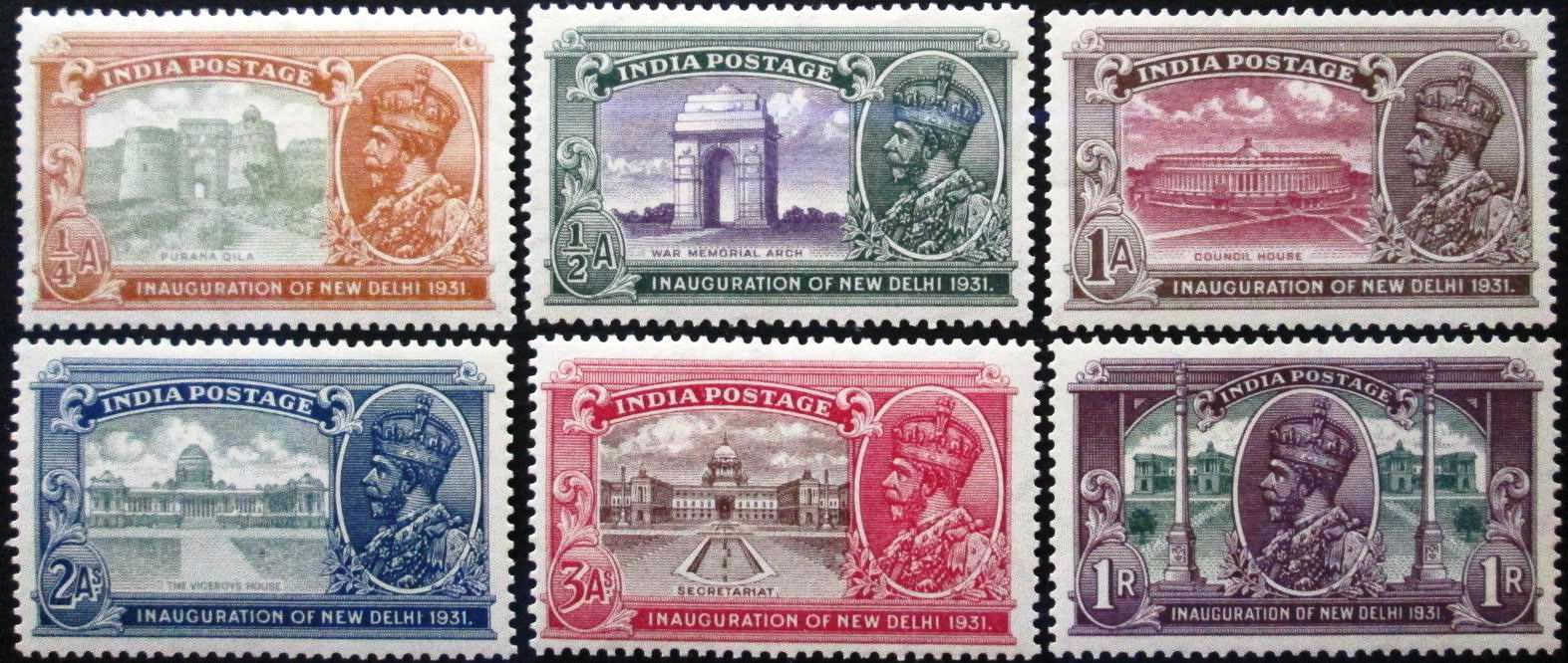 British India 1931 Stamps New Delhi MLH