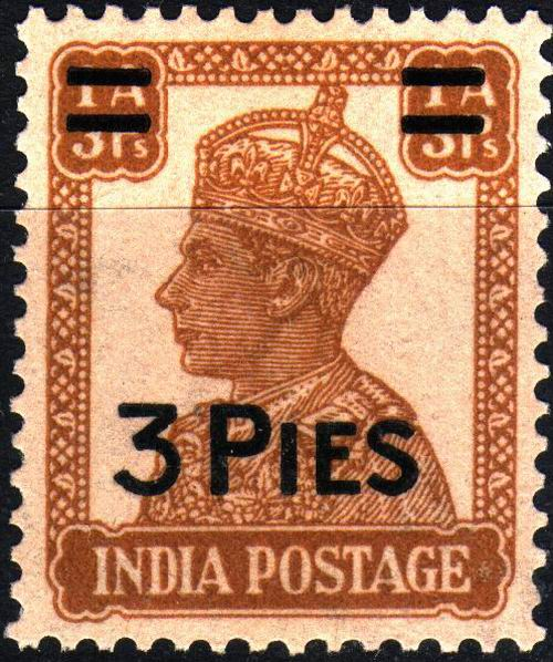 British India 1946 KGVI 3 Paisas Stamps MNH - Click Image to Close