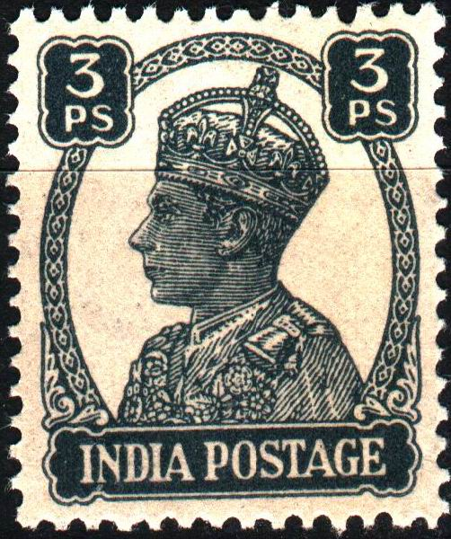 British India 1946 KGVI 3 Paisas Stamps MNH