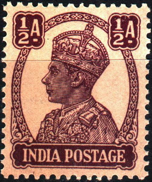 British India 1946 KGVI ½ Half Anna Stamps MNH