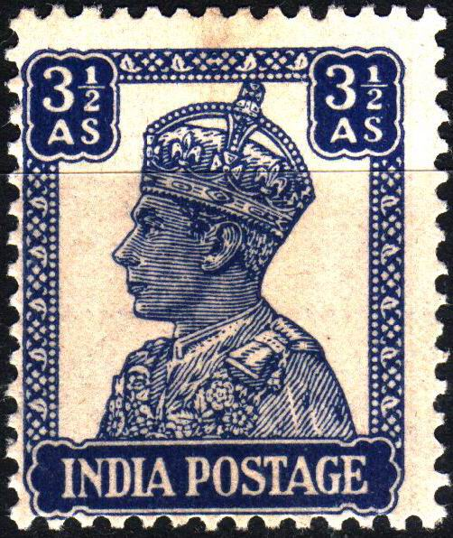 British India KGVI 1946 3½ Anna Stamps MNH