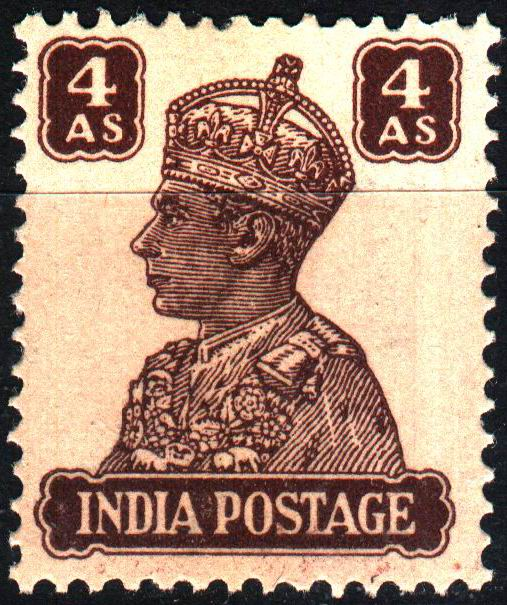 British India 1946 KGVI 4 Anna Stamps MNH