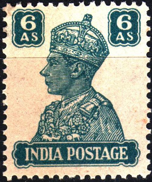 British India 1946 KGVI 6 Anna Stamps MNH