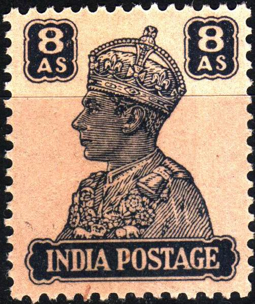 British India 1946 KGVI 8 Anna Stamps MNH