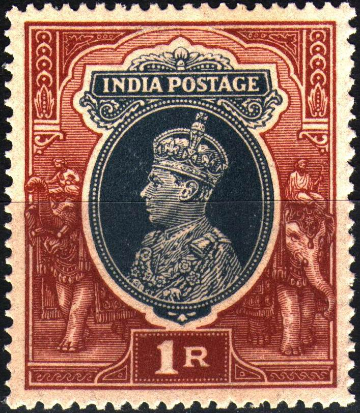 British India KGVI 1946 1 Rupee Stamps MNH