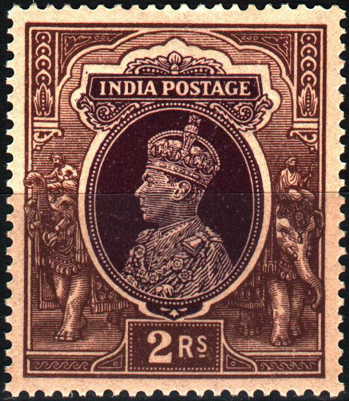 British India KGVI 1946 2 Rupee Stamps MNH
