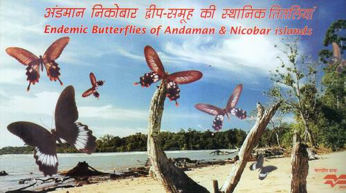 India Fdc 2008 Brochure S/Sheet Stamps Pack Butterflies