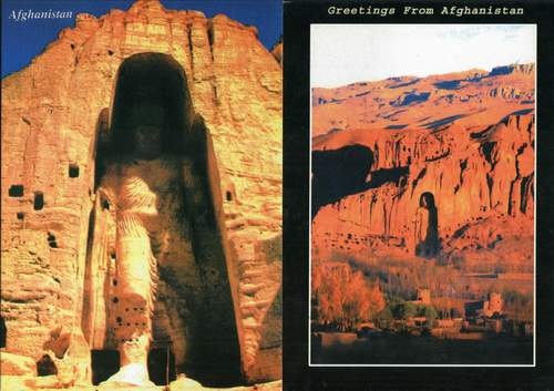 Afghanistan Postcard Buddha Bamiyan Taliban Destruction