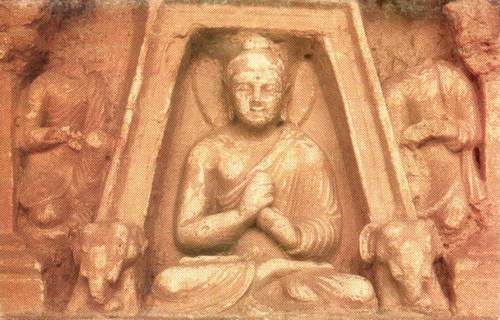 Pakistan Postcard Buddha At Jaulian Site Taxila