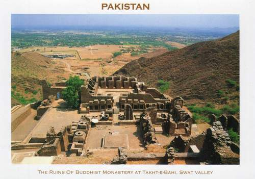Pakistan Postcard Ruins Of Buddhist Monastery