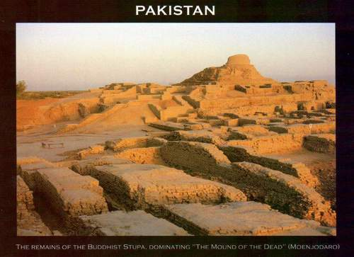 Pakistan Postcard Remains Of The Buddhist Stupa Moenjodaro
