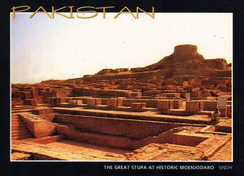 Pakistan Postcard Great Stupa At Moenjodaro