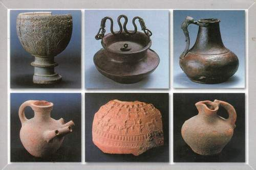 Pakistan Postcard Metal & Terracotta Objects Taxila Musuem