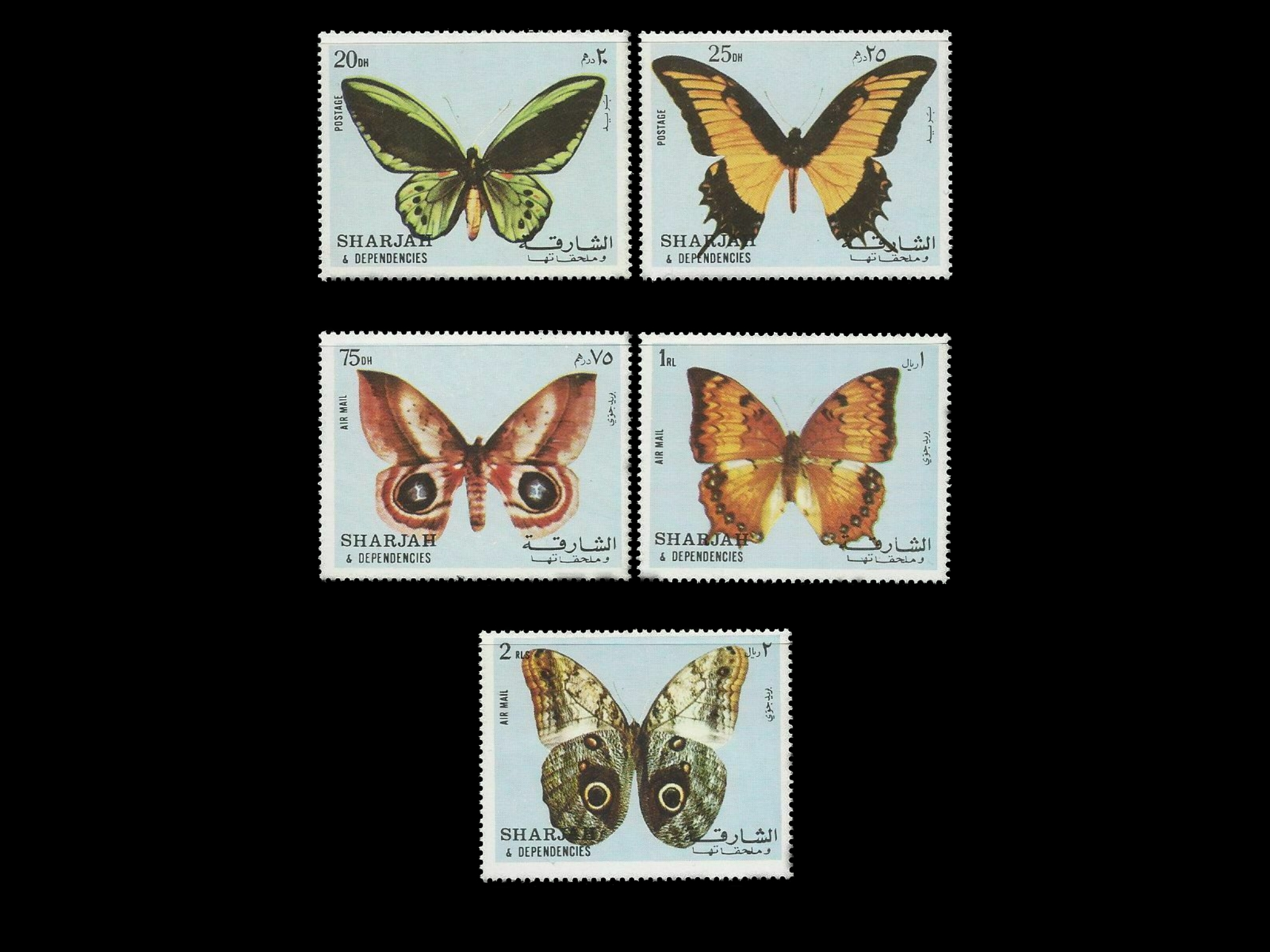 Pitcairn Islands 2005 S Sheet Stamps Odd Shape Butterflies