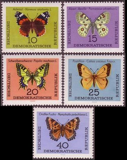 Germany 1964 Stamps Butterflies