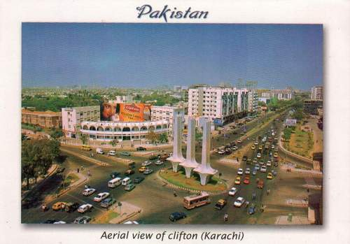 Pakistan Beautiful Postcard Aerial View Clifton Karachi