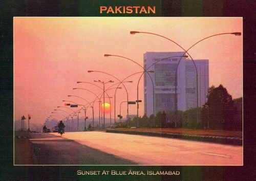 Pakistan Beautiful Postcard Blue Area Islamabad