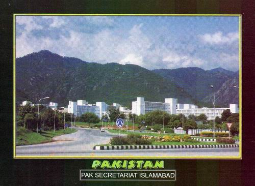 Pakistan Beautiful Postcard Secretariat Islamabad