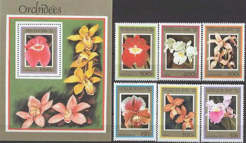 Benin 1999 S/Sheet & Stamps Orchids