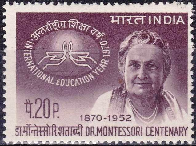 India Stamps 1970 Dr. Maria Montessori Nobel Prize