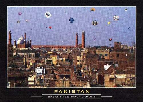 Pakistan Beautiful Postcard Basant Festival Kite Flying