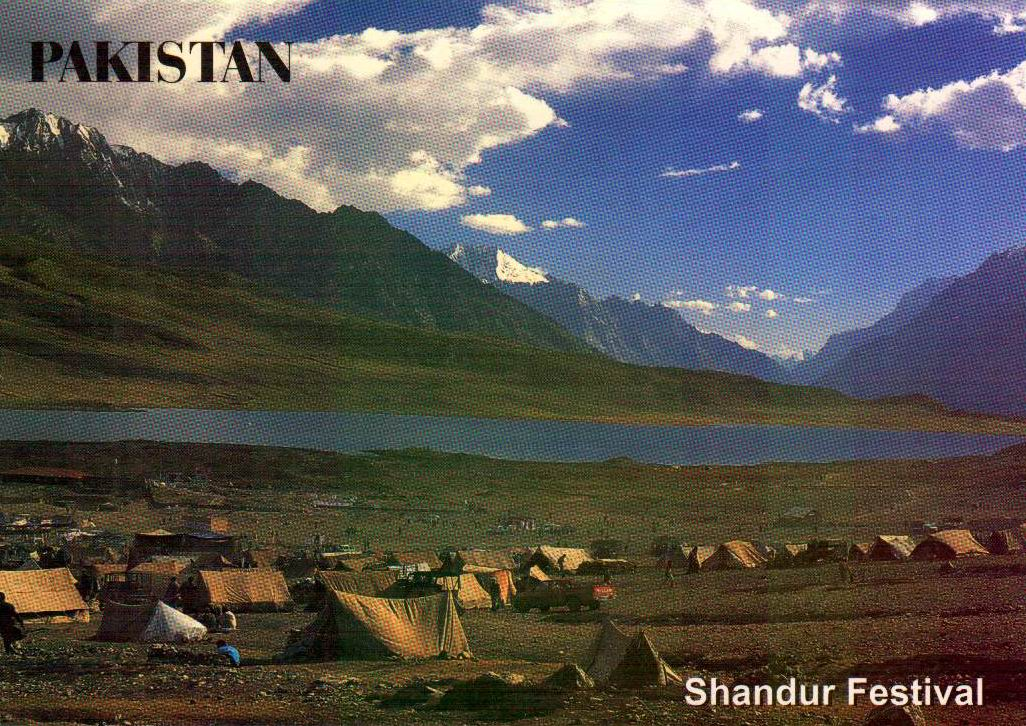 Pakistan Beautiful Postcard Shandur Festival Polo