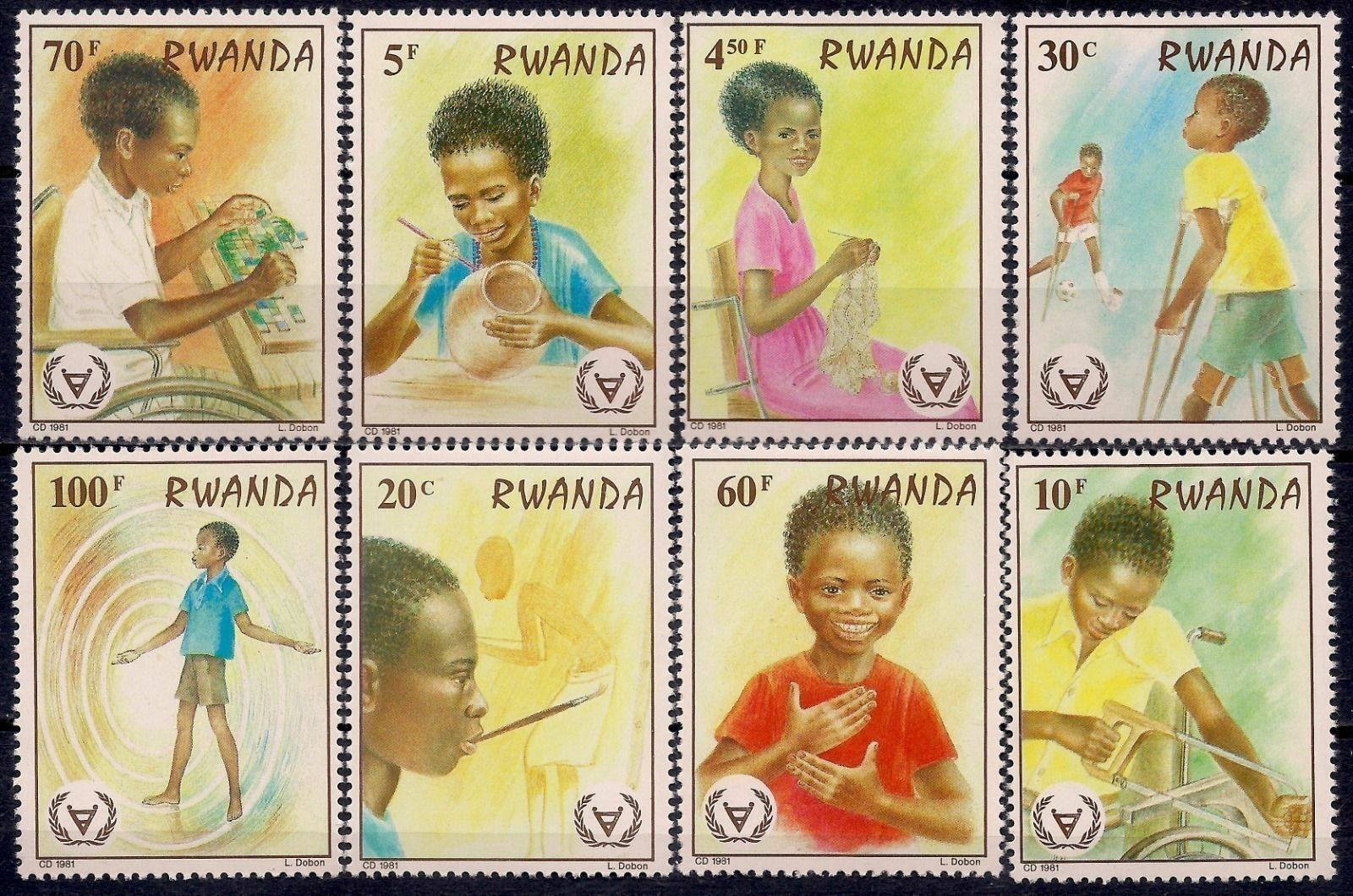 Rwanda 1981 Stamps International Year Of Disabled Persons MNH