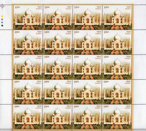 India 2004 Stamps Sheet Taj Mahal 7th Wonder Of The World