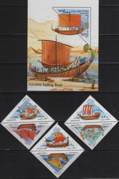 Afghanistan 1997 S/Sheet & Triangular Stamps MNH